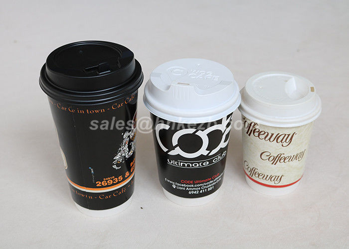 Double Wall Food Grade Hot Drink Paper Cups With Lids 320ml For Hot Beverages