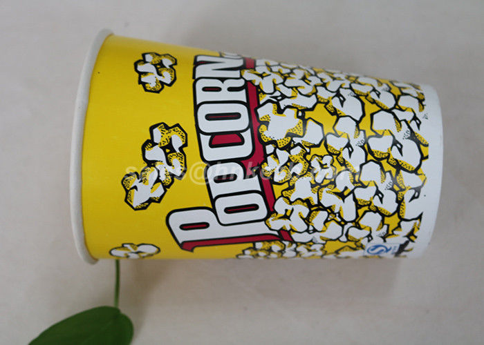 85oz Custom Printed Paper Cups , Paper Popcorn Boxes Containers OEM Acceptable