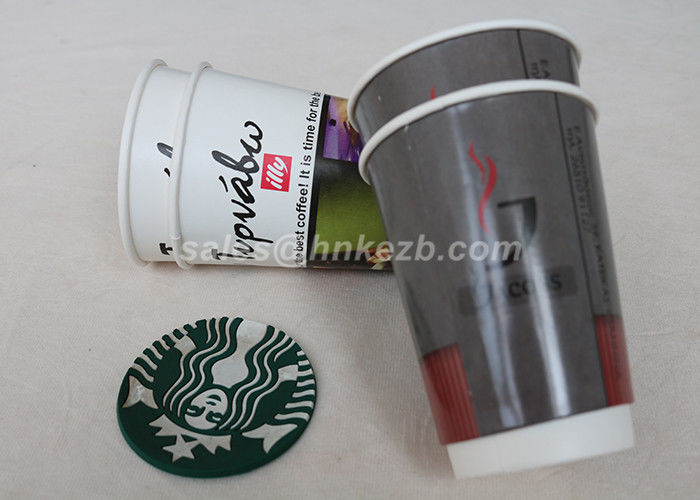 Hot Beverage Disposable Double Walled Paper Coffee Cups Custom Logo Printed
