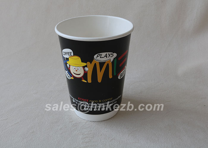 Personalized 12oz Disposable Paper Cups Hot Coffee Insulation Paper Cup