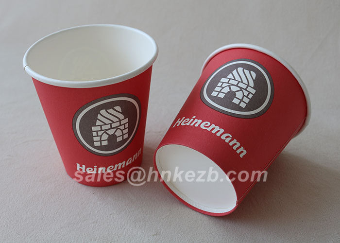 Unfolded 10oz LOGO Printed Double Wall Paper Cups For Coffee / Beverage