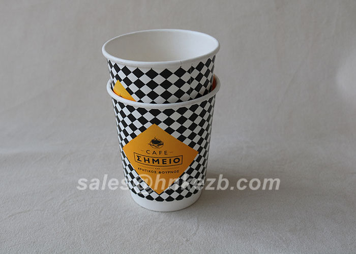Customized 12oz Hot Drink Paper Cups Food Grade Hot Beverage Cups Virgin Paper